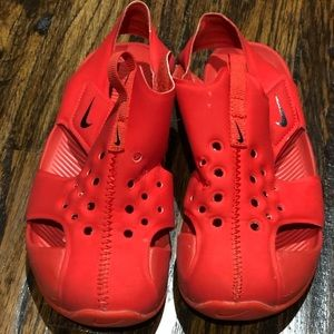 Red Nike Water Shoes